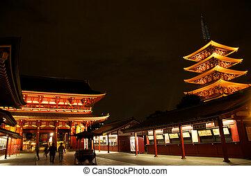 Hozomon Gate at Sensoji Temple, Asakusa, Tokyo, Japan