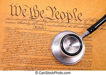 hozzánk alkotmány, és, sztetoszkóp
