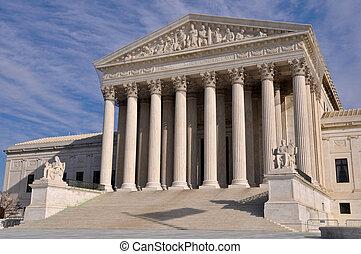 hozzánk döntő bíróság, épület, alatt, washington dc dc