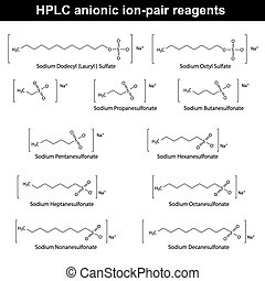HPLC anionic ion pair reagents - structural chemical ...