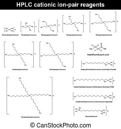 HPLC cationic ion pair reagents - structural molecular...