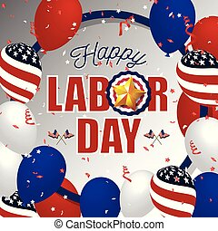 Hppy labor day background. Vector illustration - Labor day...