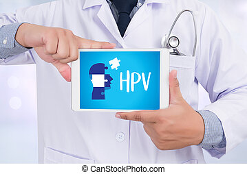 HPV CONCEPT Virus vaccine with syringe HPV criteria for pap...