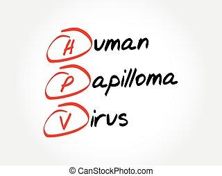 HPV - Human Papilloma virus , acronym concept background