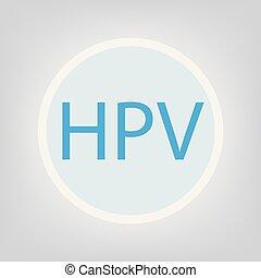 HPV (Human Papillomavirus) acronym- vector illustration