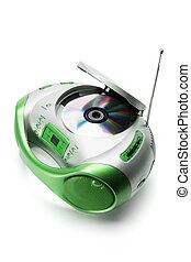 hráč, rádio, přenosný, cd