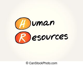 hr, acronyme, -, ressources humaines