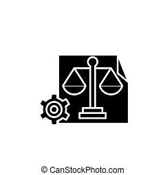 Hr balanced scorecard black icon concept. Hr balanced scorecard flat vector symbol, sign, illustration.