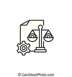 HR balanced scorecard linear icon concept. HR balanced scorecard line vector sign, symbol, illustration.