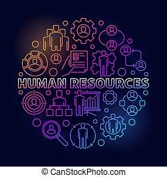 HR bright illustration