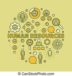 HR creative illustration