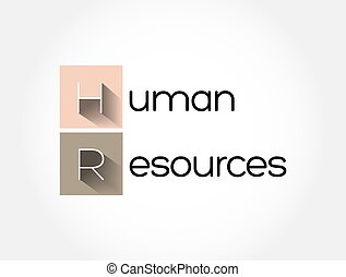 HR - Human Resources acronym, business concept background