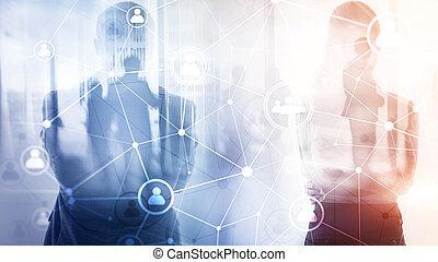 HR - Human resources management and recruitment concept.