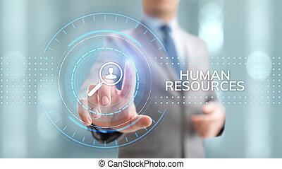 HR Human resources management recruitment talent concept.