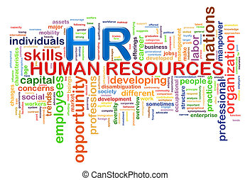 HR Human resources word tags wordcloud - Illustration of...