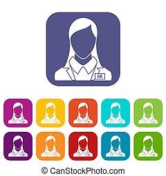 HR management icons set