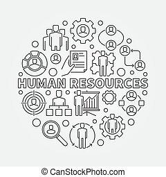 HR outline illustration