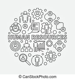 HR outline illustration