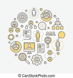 HR round illustration
