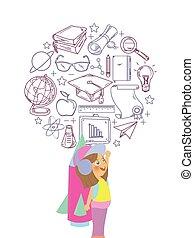 hračka, ikona, jetpack, školství, hraní, kůzle