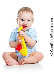 hračka, osamocený, hraní, grafické pozadí, děťátko, neposkvrněný, hudební