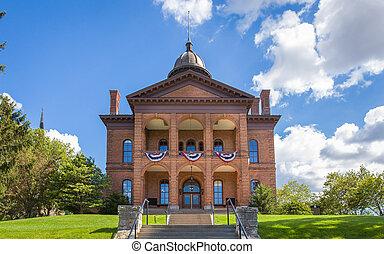 hrabství, dějinný, washington, soud