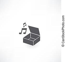hrací skříň, ikona