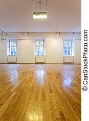 hradby, umělecká galerie, neobsazený, čistý