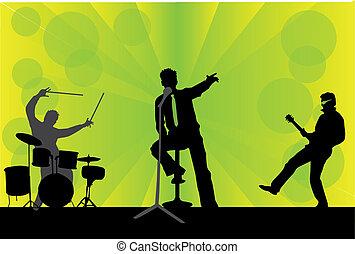 hraní, koncert