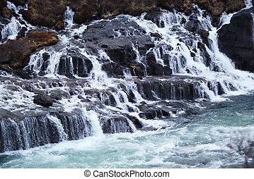 hraunfossar flow