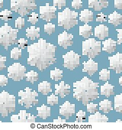 hristmas seamless pattern of paper snowflakes. EPS 10