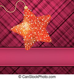 ?hristmas stars on red background. EPS 8