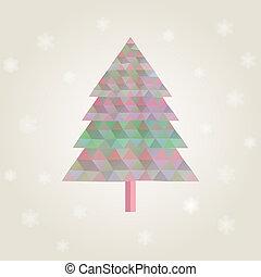 ?hristmas, triangulo, árvore, coloridos, diamantes