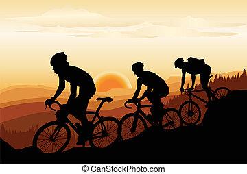 hromada čeho jízdní kolo