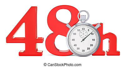 hrs., レンダリング, 48, 速い, 概念, 出産, 3d