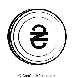 Hryvnia sign icon, simple style