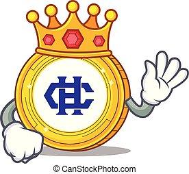 hshare, rey, moneda, caricatura, mascota