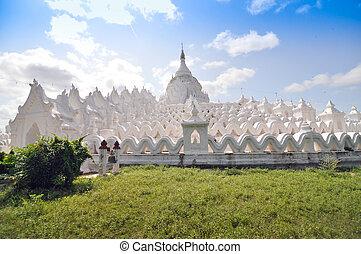 hsinbyume, (myatheindan), paya, 寺院, mingun, マンダレイ, 中に, ミャンマー