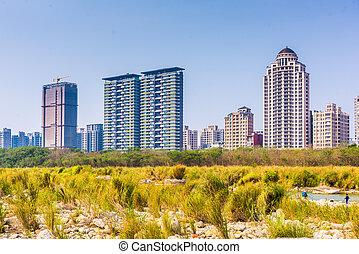hsinchu, taiwan, cityscape.