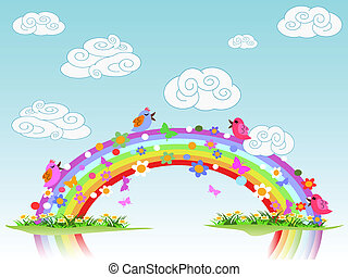 colorful spring rainbow