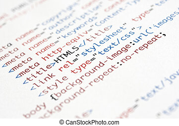 html, 原稿
