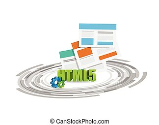 html 5 browsers technology illustration