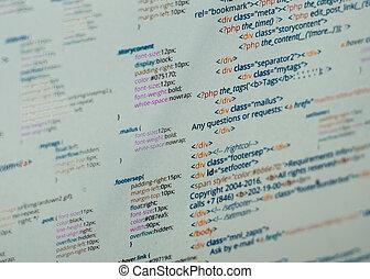 Html code - HTML and CSS code developing screenshot....