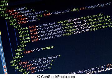 HTML Code Sample . CSS3 Code. - HTML Code Sample Menu on...