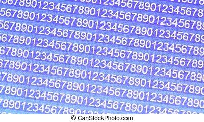 Html codes running on computer display