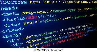 &, html, css, étiquettes
