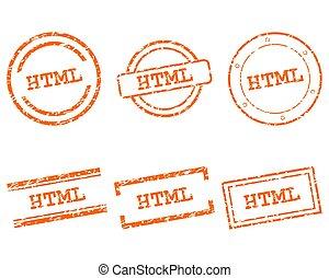 html, francobolli