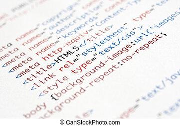 html, rękopis