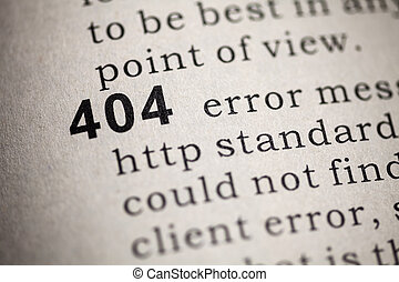 http 404 error - Fake Dictionary, Dictionary definition of...