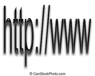 http and www with black bevel